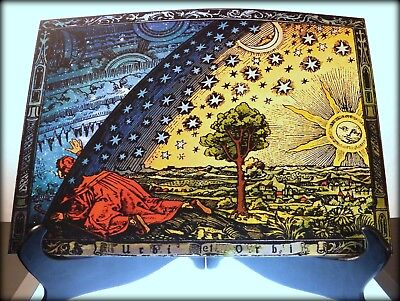 FLAMMARION ENGRAVING 1888 Flat Earth Firmament Dome Art Psychedelic Poster Print