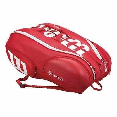 Wilson Pro Staff 15 Pack Tennis Racquet Bag Red/White