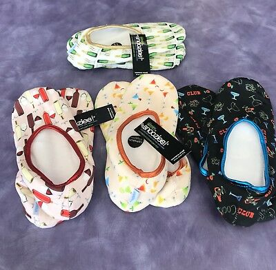 Skinnies by Snoozies Lightweight Travel Slippers W/Matching Pouch!