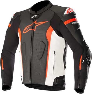 Alpinestars Missle Leather Jacket Tech-Air Compatible Size 52 Black/White/Red