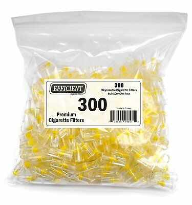 EFFICIENT Bulk Cigarette Filter Tips (300 Filters) Block, Filter Out Tar  Nic