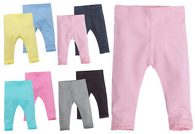 New Baby Girls Soft Leggings Cotton Rich Lace Frill Newborn Value Multipack Gift