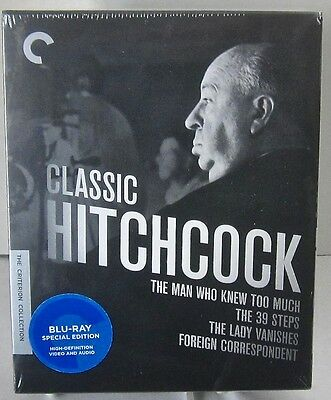 Classic Hitchcock - The Criterion Collection Blu-Ray Box Set 4 Films. Brand New