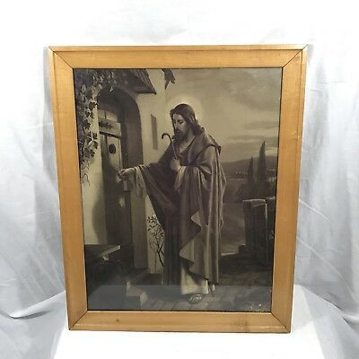 Vintage jesus knocking at the door black white sketch drawing framed vintage jesus knocking at the door black white sketch drawing framed print altavistaventures