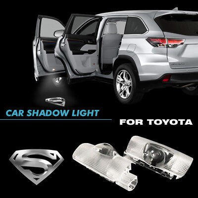 The Silver Superman Car Door Welcome Projector Ghost Shadow LED Light For Toyota