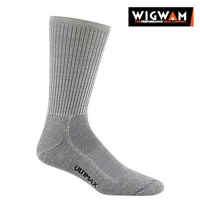 WIGWAM Cool-Lite Pro Crew Socks, MEDIUM, Warm Weather Grey F6063 Sport Socks