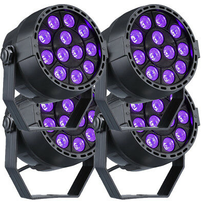4X12W LED UV Black Lights Purple Par Can Stage Lighting DMX Disco Party DJ Light