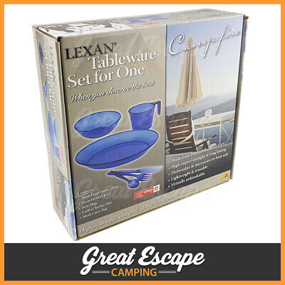 Lexan Camping Tableware Set for One. Superstrong, durable, long lasting