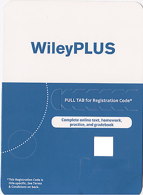 NEW Wiley PLUS Access Code -  FAST ONLINE DELIVERY