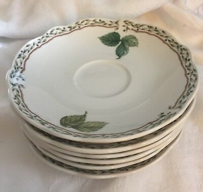 "Noritake Royal Orchard Saucer 6"" Coffee Primachina 6-Available Vine 9416 Japan"