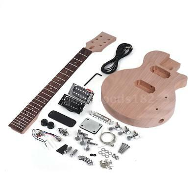Unfinished Children LP DIY Electric Guitar Kit Mahogany Body Neck Free Ship HOT