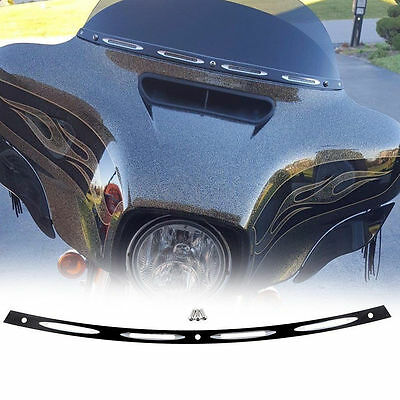 Black Motorcycle Fairing Windshield Trim for Harley Electra Street Glide 96-13