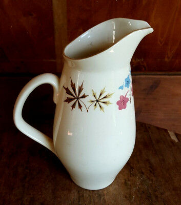 Vtg Franciscan Pottery GMB Larkspur Pitcher 8.25in T California USA