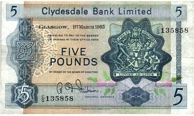 Schottland 5 Pounds 1965 - Coat of arms, church - Serial C/G