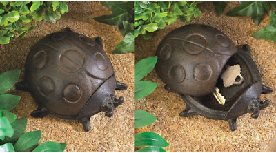 Ladybug Hide A Key Cast Iron Key Hider Garden Patio Home Accents Decor Set of 2