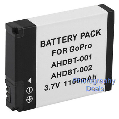 Replacement For GoPro AHDBT-001 AHDBT-002 Battery For GoPro HD Hero 2 Camera
