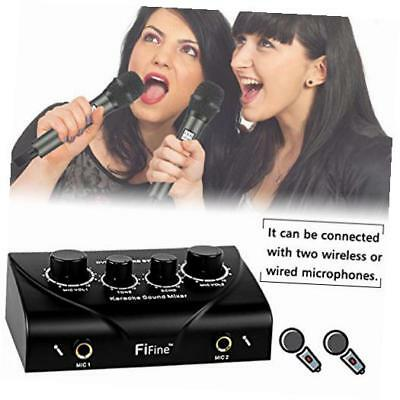 karaoke mixer  digital audio sound echo mixer for dual mic inputs with cable,for