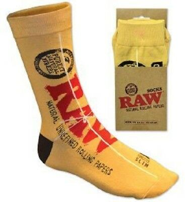 RAW Rolling Papers Brand SOCKS - Classic King Size Slim Design One Pair