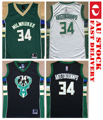 Giannis Antetokounmpo #34 Milwaukee Bucks NBA JERSEY GIFT COLLECTIBLE AU STOCK