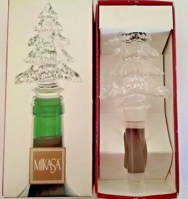 Mikasa crystal Holiday Time bottle stopper