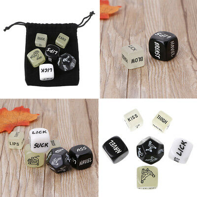 6 PC Fun Acrylic Dice Love Dice Sex Dice Erotic Dice Love Game Toys Couple Gift