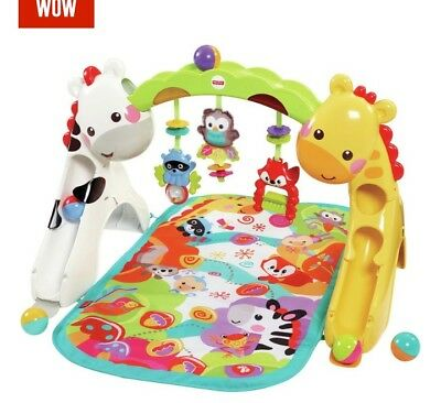 Fisher-Price Newborn-to-Toddler Safari Jungle Animal Play Gym (CCB70) Excellent