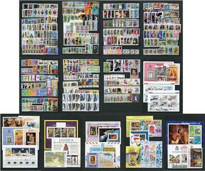 West Indies, Caribbean. Commonwealth Countries Stamp Sets etc. Nearly all MNH