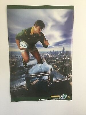 "RARE RUGBY WORLD CUP 1999 SOUTH AFRICAN TEAM POSTER - 24"" x 36 inches"