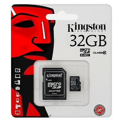 Micro Sd 32Gb  Kingston  Cl10 45Mb/s Scheda Cellulare Tablet Iphone