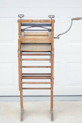 Antique Folding Bench Wringer 1898 Wood Anchor  Bicycle Erie PA Lovell 771B