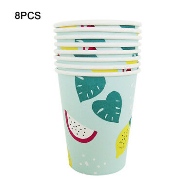 8pcs Colourful Paper Tableware Cups Party Wedding DIY Paper Events Drinking
