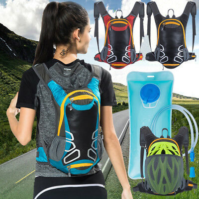 Superior 15L Cycling Hydration Pack Backpack + 2L Water Bladder Bag Hiking Sport