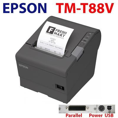 Used Epson TM-T88V Thermal Receipt Printer POS Point of Sale Parallel USB Port