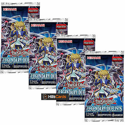 Yu-Gi-Oh Cards: Legendary Duelists: 4 Sealed Booster Packs - Duelist Pack - TCG