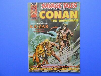 1974 Marvel Comics Magazine Savage Tales #5 Conan Ka-Zar Neal Adams Unread
