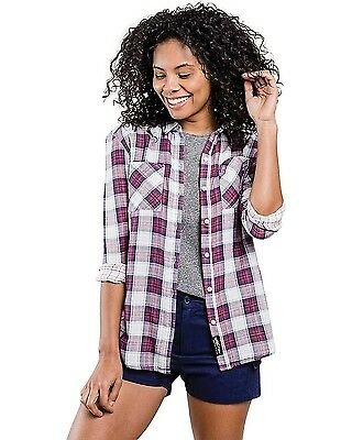 United By Blue Stargrass Relaxed Plaid Shirt Red/Navy S