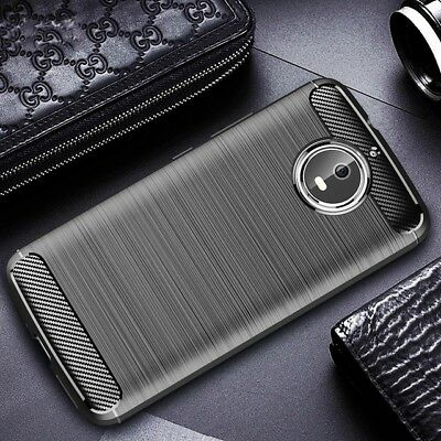 For Motorola Shockproof 360° Carbon Case Cover & Full Coverage Screen Protector
