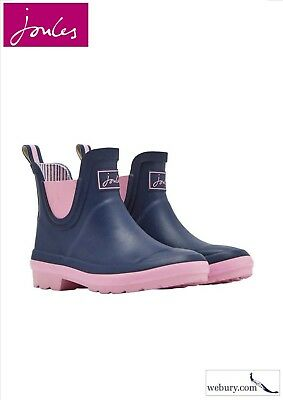 Joules Girls Short Height Wellibob Boot in French Navy sizes UK 10 - 3