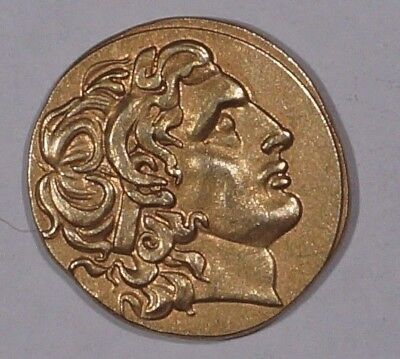 Alexander III the Great 330 B.C 24KT Gold Plated Drachma imitation (648.6)