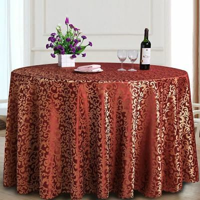 Polyester Fabric Round Shape Machine Washable Dining Table Cloth