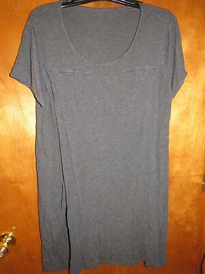 Ladies PLUS Charcoal Gray Maternity NURSING Nightgown by SAVI MOM ~SIZE 1X