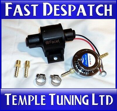 Facet 4-7 psi Electric Fuel Pump & Sytec Regulator 6mm classic kit car carb