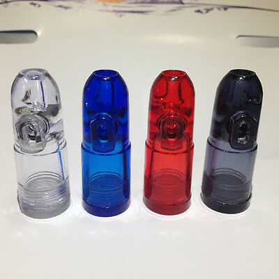 Convenient Snuff Bottle Ultimate Bullet Acrylic Clear With Clear Bottoms JH