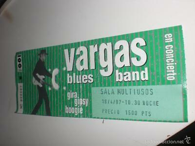 Entrada Vargas Blues Band - Zaragoza 18 Abril 1997