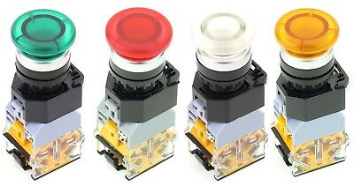 Yuco YC-P22PMM-MI Illuminated Push Button Choose: Switch Action, Color, Voltage