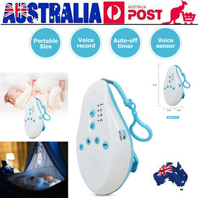 Baby Sleep Soothers Sound Machine White Noise Record Voice Sensor For Home K4R8