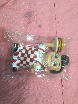 Colorful Collectible Frischs, Bobs, or Shoneys Big Boy Bank with Hamburger- Nice