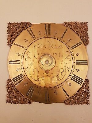 An 18thC brass chapter for longcase clock