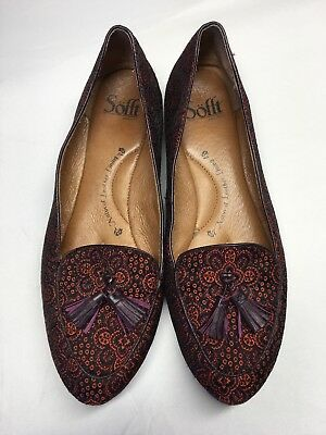 b25344acb9d SOFFT SLIP ON Tassel Loafer Shoes size 9.5 Women Burgundy Leather ...