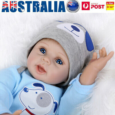 22inch Beautiful Lifelike Newborn Baby Realistic Vinyl Reborn Boy Doll Xmas Gift